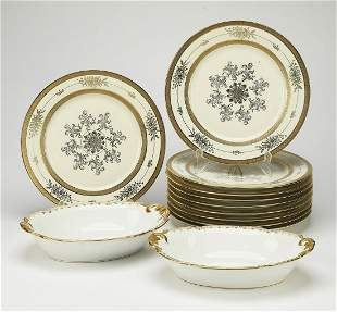 Group of (12) porcelain plates, incld Limoges