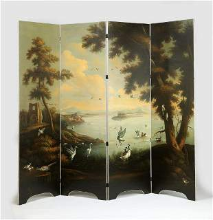 Chelsea House scenic O/c screen or room divider