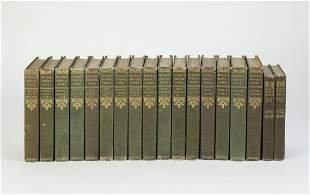 (18) Charles Dickens volumes with decorative spines