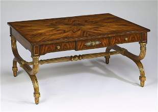 Hickory White rosewood veneer cocktail table