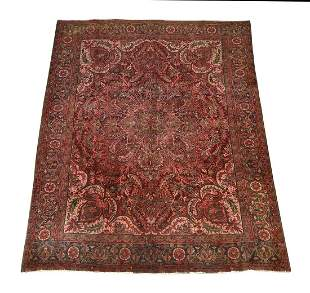Hand knotted Persian Mashad carpet, 12 x 10