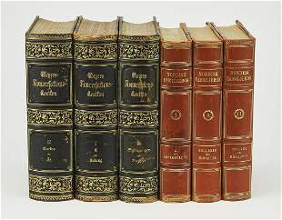 (6) Continental reference books w/ decorative spines