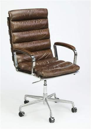 Restoration Hardware modern leather executive chair