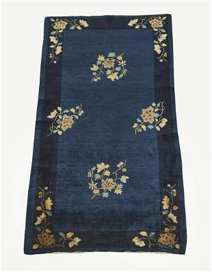 Hand knotted wool Chinese Art Deco rug, 5 x 3