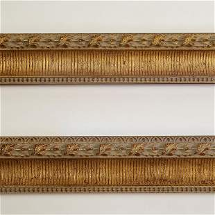 """(2) Italian carved and gilt decorative moldings, 118"""""""