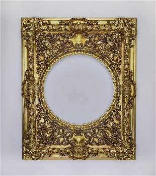 Italian carved and gilt frame in the Baroque taste