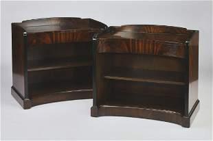 (2) Jonathan Charles Art Deco style nightstands