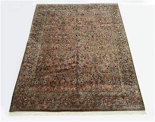 Hand knotted wool Indo-Sarouk carpet, 12 x 9