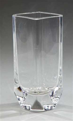 """Sigurd Persson for Kosta Boda crystal vase, 8.25""""h"""