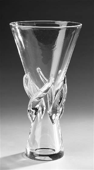 Steuben crystal 'Rose' vase #8090