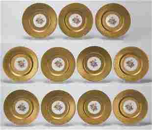 Set of (11) Bavarian porcelain cabinet plates