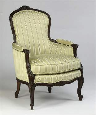 Louis XV style upholstered bergere