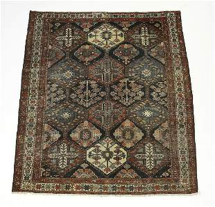 Hand knotted wool Persian Bakhtiari rug, 6' x 5'