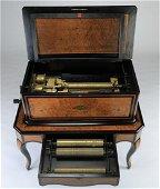 19th c. restored  Swiss cylinder music box