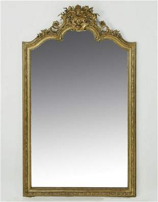 Late 19th c. French Rococo Revival giltwood mirror