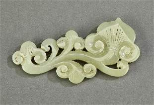 Chinese carved celadon jade lingzhi