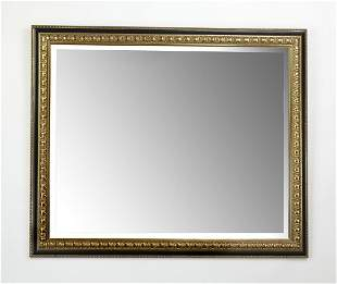 "Empire style rectangular beveled mirror, 57""w"