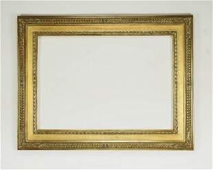 Italian carved and gilt frame