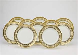 (10) Gold embossed Limoges France plates