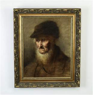 19th c. O/p Old Master style portrait