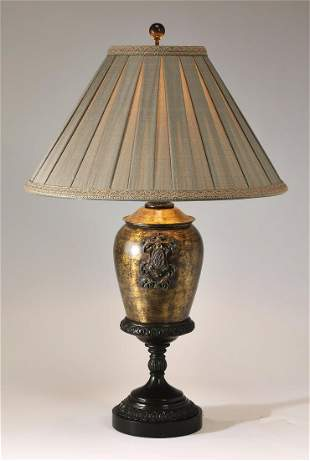 Maitland Smith Chinese Chippendale style lamp