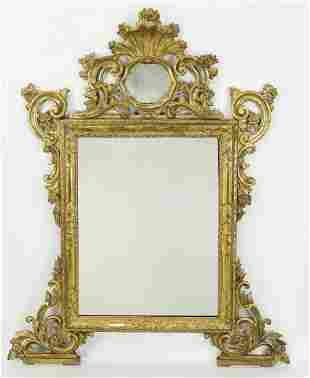 Early 20th c. French giltwood mirror