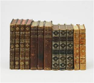 (12) 19th and 20th c. books with decorative spines