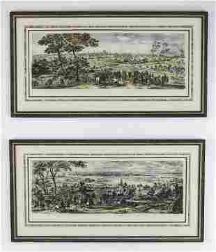(2) 19th c.French military engravings