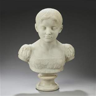 Marble bust of a child, marked Hardenberg, ca 1820