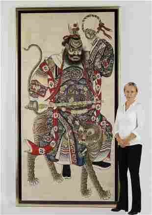 Monumental Chinese painting of Zhao Gongming