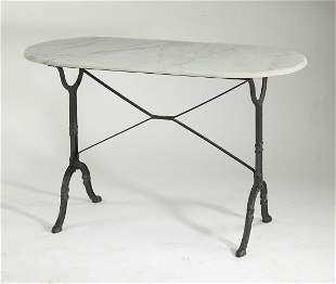 Early 20th c. French marble top pastry table