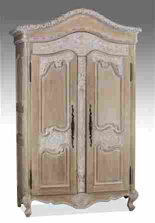 """Louis XV style armoire, with interior shelves, 99""""h"""