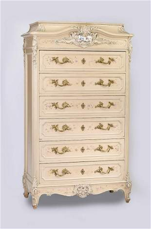 Early 20th c. Rococo style chest of six drawers