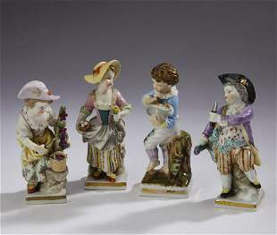 (4) 19th c Sitzendorf Porcelain figures of children