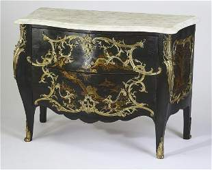 Late 19th c. French chinoiserie inspired commode
