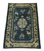 Hand knotted wool Chinese Art Deco rug, ca 1930
