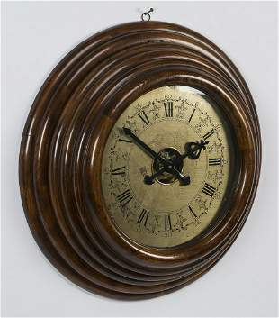 """Oversized vintage style beehive wall clock, 26""""dia"""