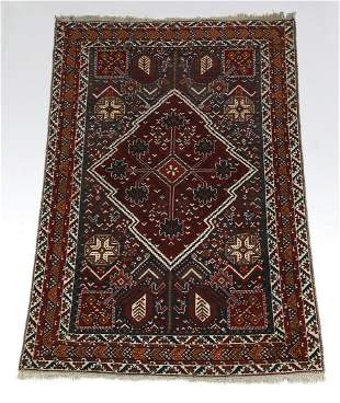 Hand knotted wool on wool Qashqai rug, 6 x 4