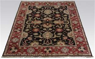 Hand knotted Indo-Persian wool area rug, 8 x 10