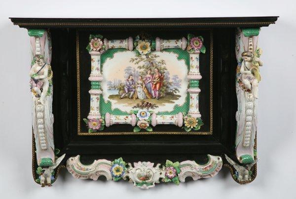 8: 19th century Meissen porcelain key safe