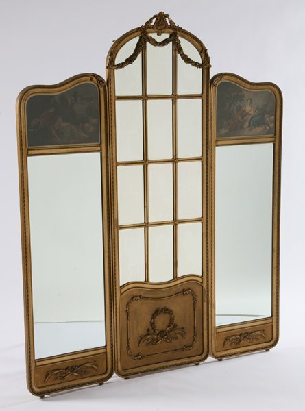 9: 19th century three panel French screen