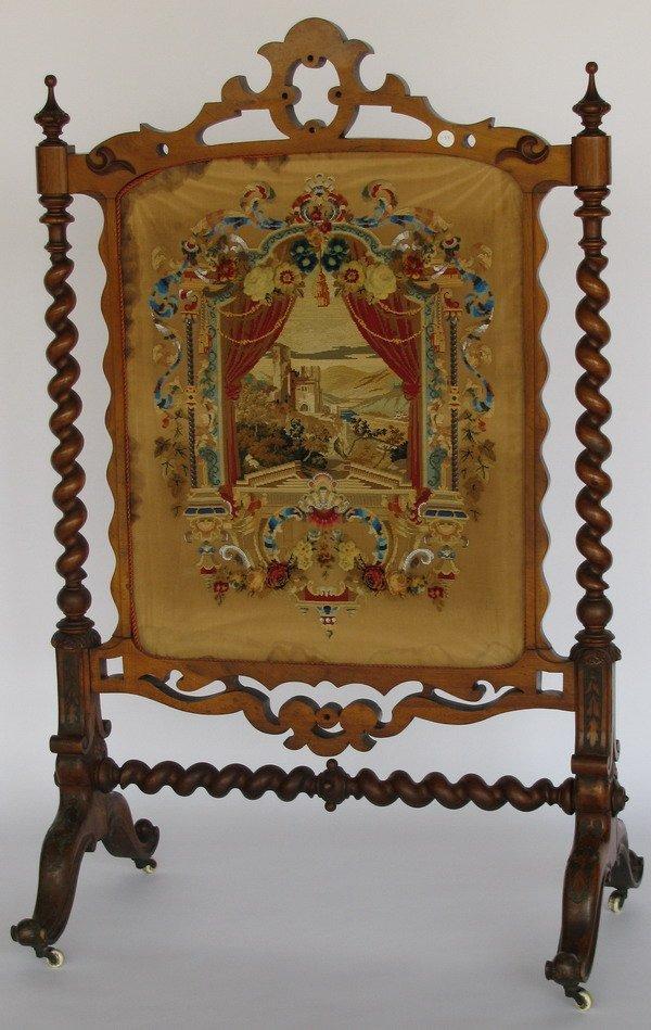 10: 19th century English fire screen