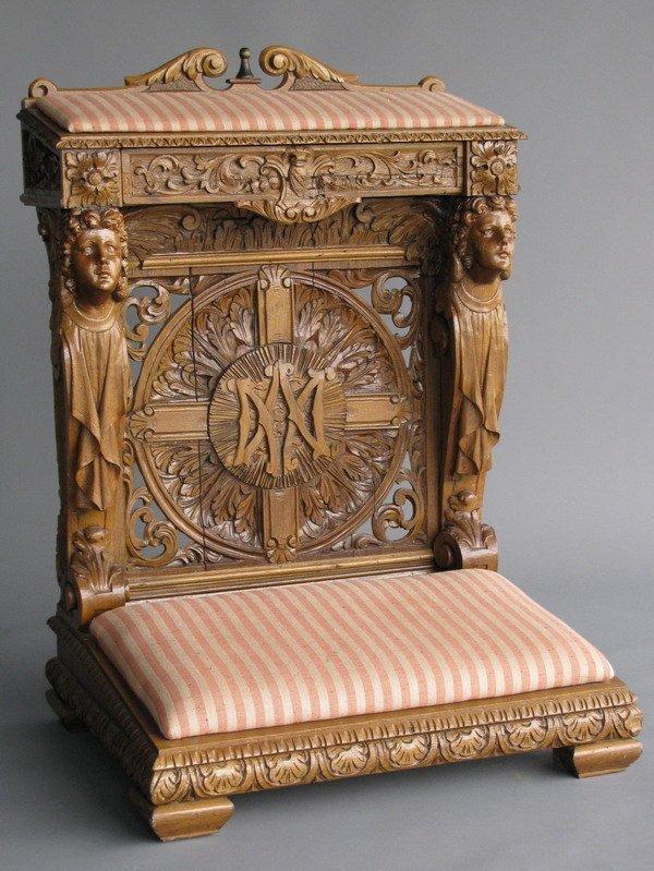 18: 19th century Florentine prie-Dieu
