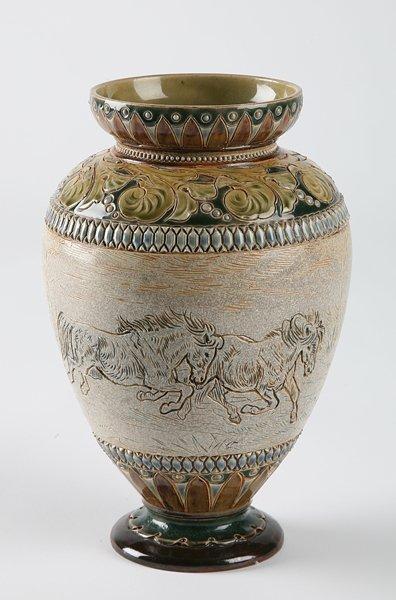 252: 19th century Dalton Lambeth vase
