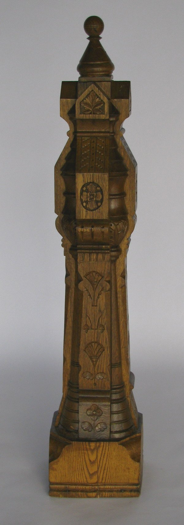 259: Carved oak newell post