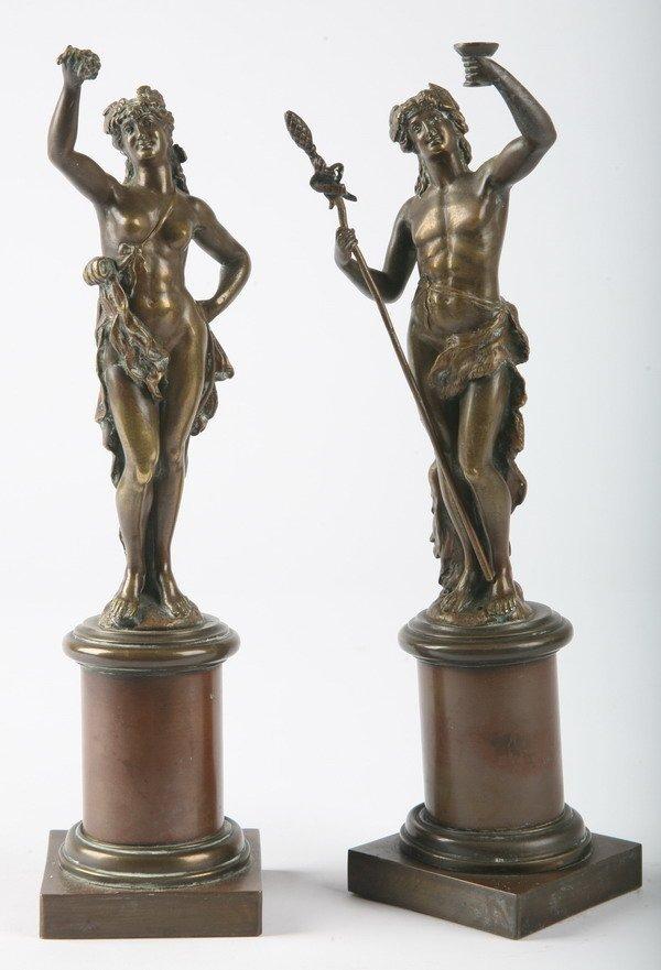 260: 19th century bronze figures