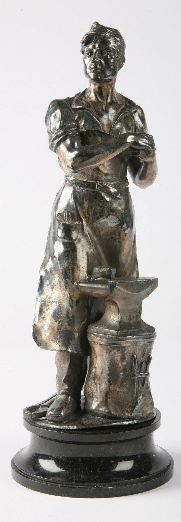 261: 19th century bronze sculpture