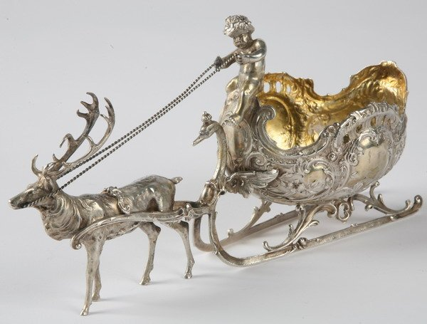 264: 19th century English silver candy tray