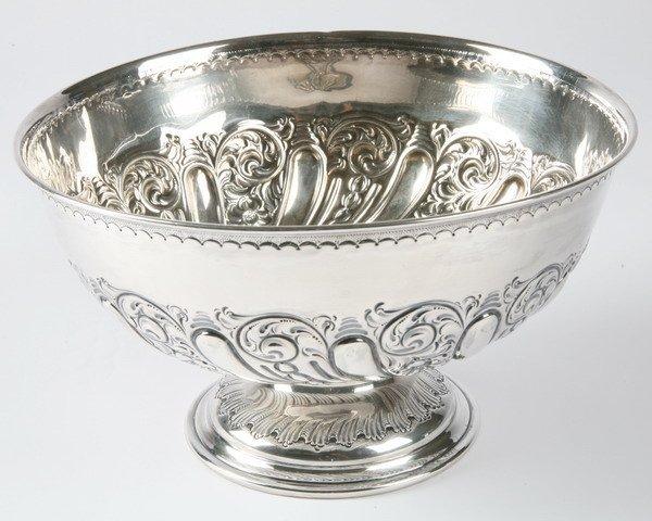 265: 18th century Sheffield UK silver bowl