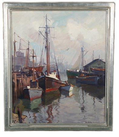 275: Emile Gruppe, oil on canvas
